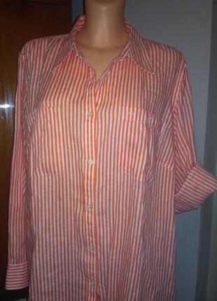 Льняная блузка ralph lauren