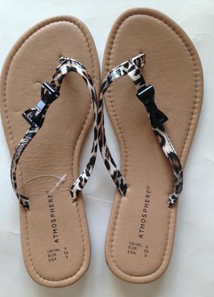Новые летние босоножки шлёпанцы на низком каблуке