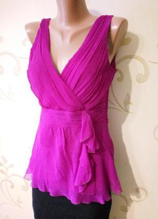 Next . красивая шелковая майка туника блузка. 100% натуральный шелк.