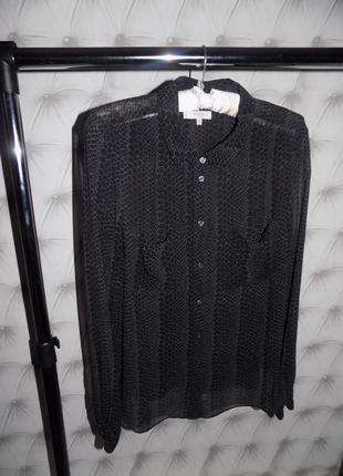 Шикарная полупрозрачная блуза