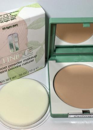 Пудра clinique almost powder makeup spf 15.оригинал