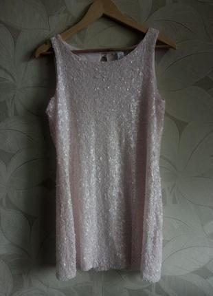 Платье в паетках h&m