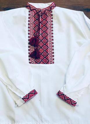 Вышиванка рубашка натуральная хлопок на мальчика