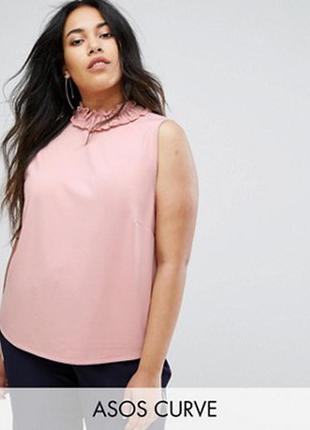 Пудровая блуза очень большой размер