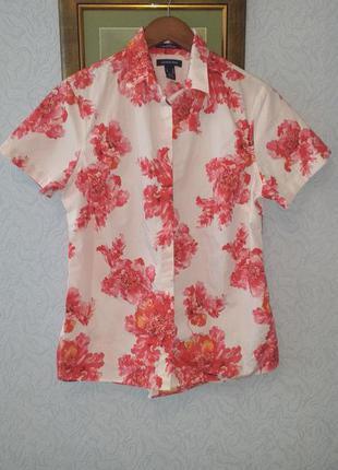 Хлопковая блуза рубашка lands' end, сша.
