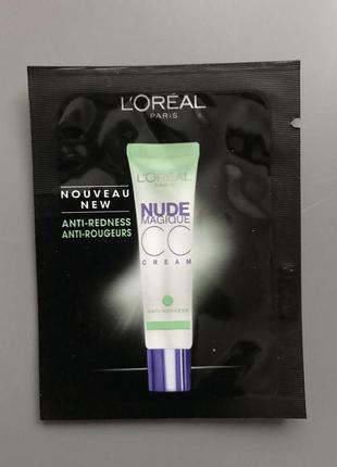 Тональный крем l'oreal paris nude magique cc cream против покраснений.