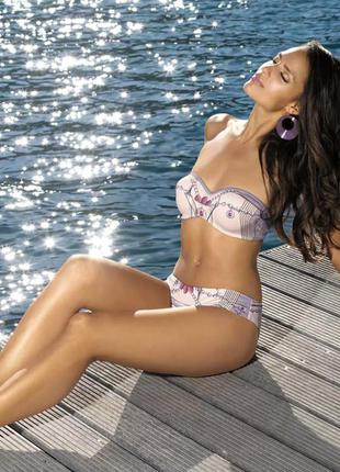 Лето!!! купальник push-up в принт marc&andre (франция)
