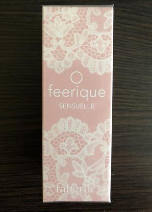 Парфюмерная вода для женщин o feerique sensuelle от faberlic