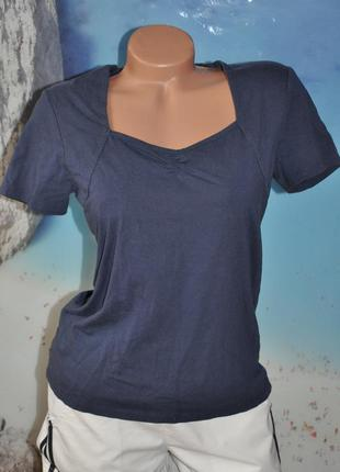 Темно-синяя футболка - biaggini. 95% коттон