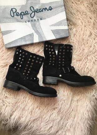 Замшевые сапоги\ботинки\полусопожки pepejeans