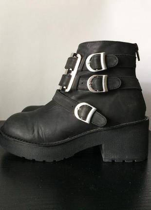 Шикарные кожаные ботинки jeffrey campbell демисезон, осень, весна