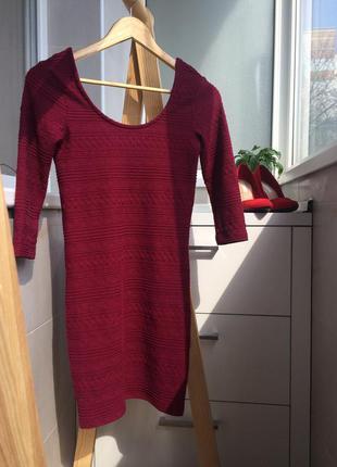 Платье цвета бургунди , марсала