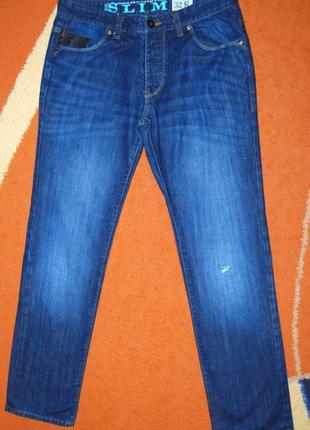 Потрясные зауженные брендовые  джинсы next, пот 43см., 100% коттон!!!