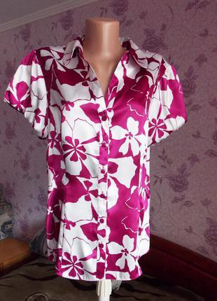 Атласная блуза р.48-50