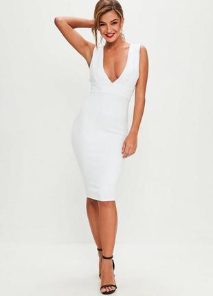 Белое платье футляр , плаття миди missguided