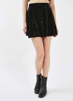 Велюровая юбка topshop, размер хs-m