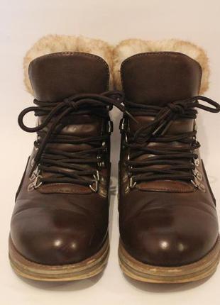 Милые ботинки на шнурках lost ink, asos. коричневые полусапожки с мехом