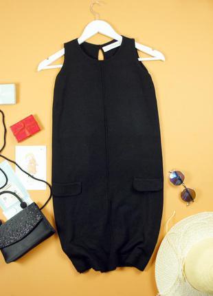 Zaraknit вязаное платье по фигуре с карманами