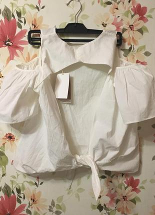 Блуза zara с воланами