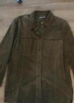 Рубашка замша*куртка кожа нат.