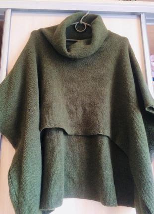 Кардиган пончо свитер . италия