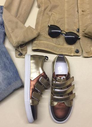 Женские кожаные кроссовки, кеды, слипоны john galliano