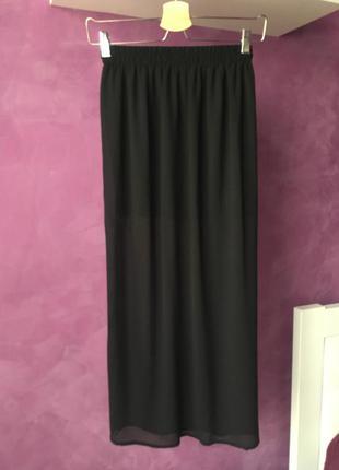 Шифонова міді юбка розмір xs