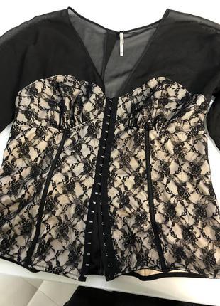 Блуза корсет next