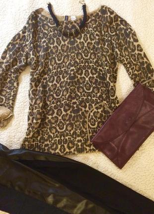 Классная кофта h&m в леопардовом принте