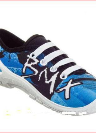570f425f Бело-синие кеды польский бренд 3f модель мидас 31 размер 20 см шнурки- резинки