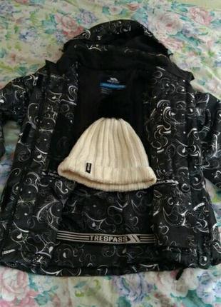 Женский горнолыжный костюм комплект trespass куртка штаны, шапка ripcurl