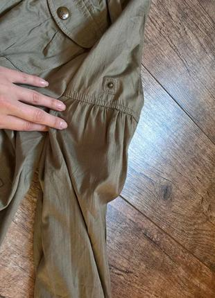 Объемная куртка-ветровка от next,цвет хаки/с затяжками-xl-48р4 фото