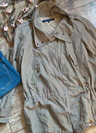 Куртка от french connection/бежевая в клетку по типу парки-l-xl