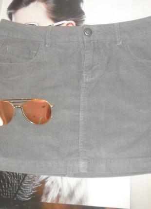 Стильная вельветовая серая юбка . стиль ретро шилась на заказ