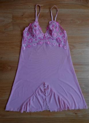 Пеньюар ночная рубашка underwear вышивка размер m
