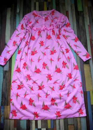 Платье домашнее для сна и отдыха.утепленное.модель матрешка