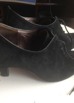 Замшевые натуральные ботинки
