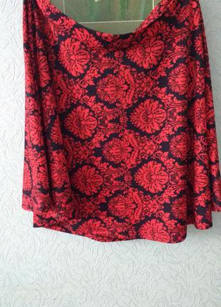 Очаровательная юбка с жаккардовым узором