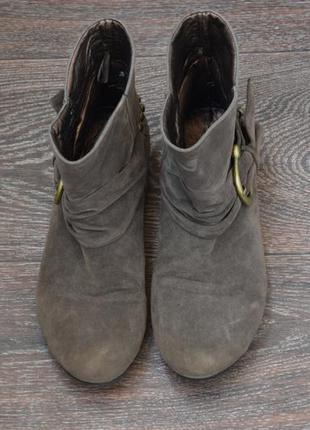 Демисезонные ботинки, искусственная замша