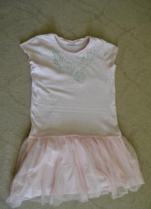 Платье на девочку 12 лет с фатином розовое next
