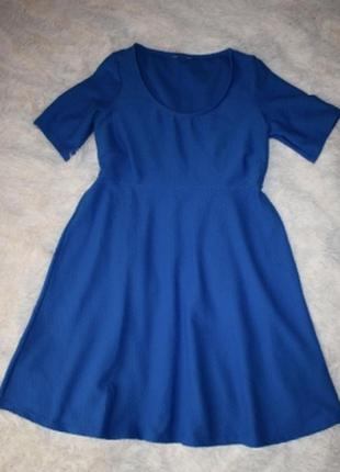Платье ярко-синее