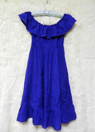 140 грн новая цена!!! платье с воланами на груди и открытыми плечами