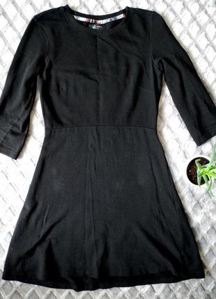 Бавовняна чорна сукня. хлопковое платье