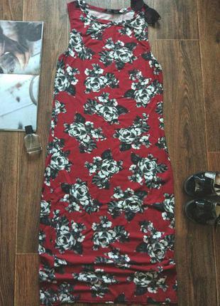 Стильное легкое миди-платье