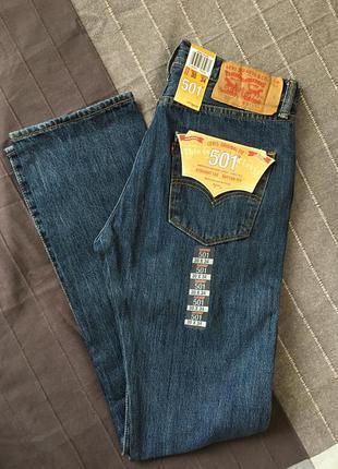 Джинсы 501® original fit jeans straight leg button fly 30w x 34l