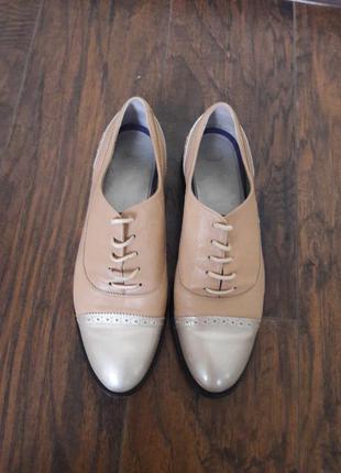 Туфли лоферы италия итальянские кожаные натуральная кожа на шнурках