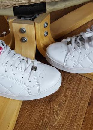 Кроссовки кожаные с эксклюзивной декорацией dc shoes original usa