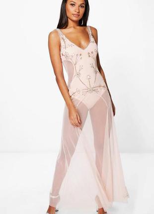 Роскошное платье боди