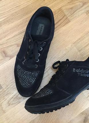Замшевые кожаные кроссовки ботинки кеды эспадрилье baldinini