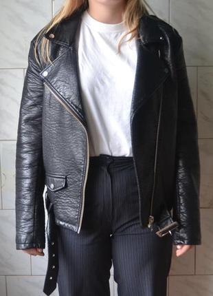 Кожанка косуха куртка amisu